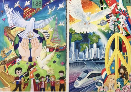 """11月20日,由和平海报委员会推荐的30幅获奖画作将被送至北京,参加""""图片"""